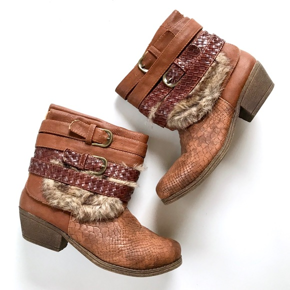 Nature Breeze Shoes - NATURE BREEZE Austin Upcycled Cowboy Booties